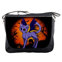 Seruki Vampire Kitty Cat Messenger Bags by Seruki