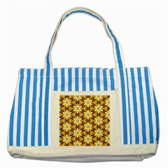 Faux Animal Print Pattern Striped Blue Tote Bag
