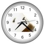 poker Wall Clock (Silver)