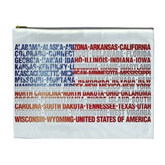Usa States Flag Cosmetic Bag (xl) by theimagezone