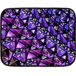 Blue purple Shattered Glass Fleece Blanket (Mini)