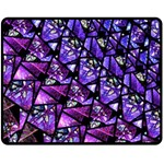 Blue purple Shattered Glass Fleece Blanket (Medium)