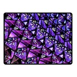 Blue purple Shattered Glass Double Sided Fleece Blanket (Small)