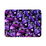 Blue purple Shattered Glass Double Sided Flano Blanket (Mini)