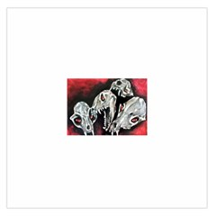 Halloween Skulls No  3 Large Satin Scarf (square) by timelessartoncanvas