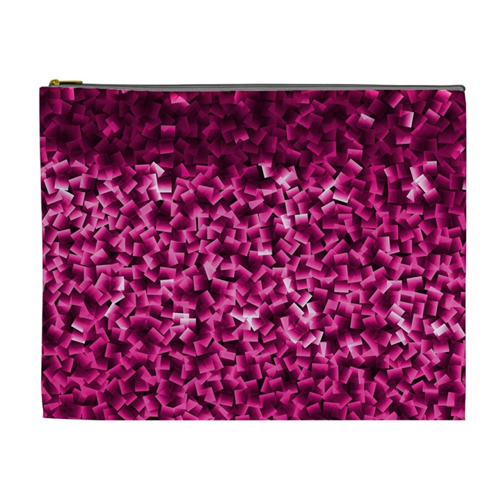 Pink Cubes Cosmetic Bag (XL)