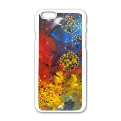 Space Pollen Apple Iphone 6 White Enamel Case by timelessartoncanvas