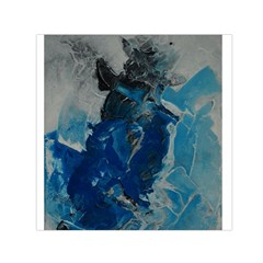 Blue Abstract Small Satin Scarf (square)  by timelessartoncanvas
