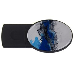 Blue Abstract No 3 Usb Flash Drive Oval (2 Gb)  by timelessartoncanvas