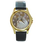 Lolo Round Gold Metal Watch