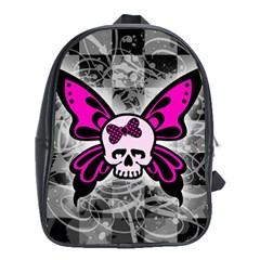 Skull Butterfly School Bags (xl)  by ArtistRoseanneJones