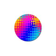 Totally Trippy Hippy Rainbow Golf Ball Marker by KirstenStar