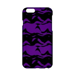 Mauve Black Waves Apple Iphone 6 Hardshell Case by LalyLauraFLM