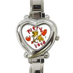 Puppy Love Heart Italian Charm Watch