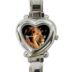 Elegant Lion Heart Italian Charm Watch