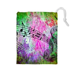 Abstract Music  Drawstring Pouches (large)