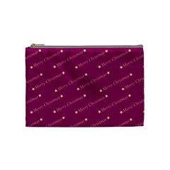 Merry Christmas,text,bordeaux Cosmetic Bag (medium)  by ImpressiveMoments
