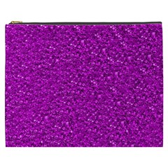 Sparkling Glitter Hot Pink Cosmetic Bag (xxxl)  by ImpressiveMoments