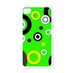 Florescent Green Yellow Abstract  Apple Iphone 4 Case (white) by OCDesignss