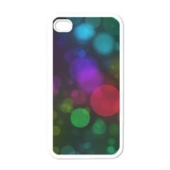 Modern Bokeh 15 Apple Iphone 4 Case (white) by ImpressiveMoments