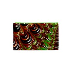 Special Fractal 31 Green,brown Cosmetic Bag (xs) by ImpressiveMoments
