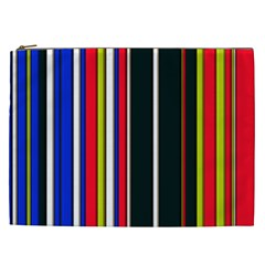 Hot Stripes Red Blue Cosmetic Bag (xxl)  by ImpressiveMoments