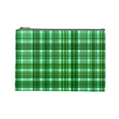 Plaid Forest Cosmetic Bag (large)  by ImpressiveMoments