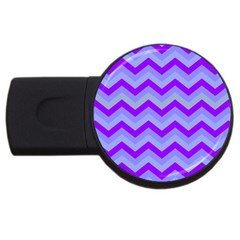 Chevron Blue Usb Flash Drive Round (4 Gb)  by ImpressiveMoments