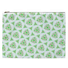 Sweet Doodle Pattern Green Cosmetic Bag (xxl)  by ImpressiveMoments