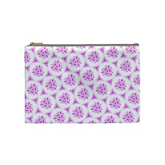 Sweet Doodle Pattern Pink Cosmetic Bag (medium)  by ImpressiveMoments