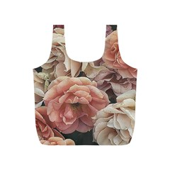 Great Garden Roses, Vintage Look  Full Print Recycle Bags (s)  by MoreColorsinLife