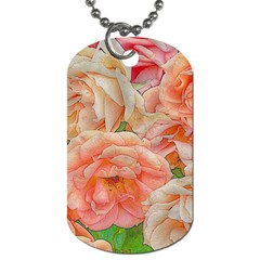 Great Garden Roses, Orange Dog Tag (two Sides)