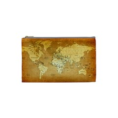 World Map Cosmetic Bag (small)  by emkurr