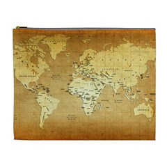 World Map Cosmetic Bag (xl) by emkurr