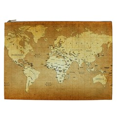 World Map Cosmetic Bag (xxl)  by emkurr