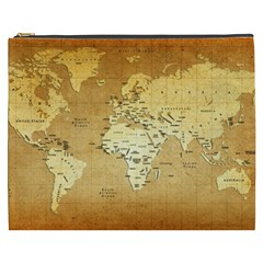 World Map Cosmetic Bag (xxxl)  by emkurr