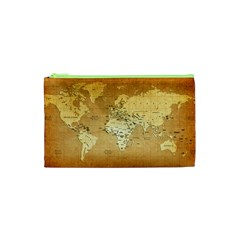 World Map Cosmetic Bag (xs) by emkurr