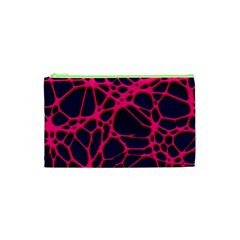 Hot Web Pink Cosmetic Bag (xs) by ImpressiveMoments