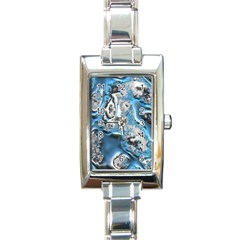 Metal Art 11, Blue Rectangle Italian Charm Watches by MoreColorsinLife