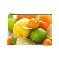 Citrus Fruits Cosmetic Bag (large)  by emkurr