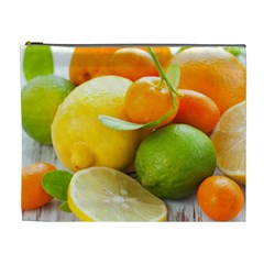 Citrus Fruits Cosmetic Bag (xl) by emkurr