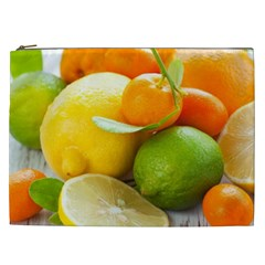 Citrus Fruits Cosmetic Bag (xxl)  by emkurr