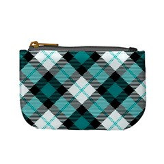 Smart Plaid Teal Mini Coin Purses by ImpressiveMoments