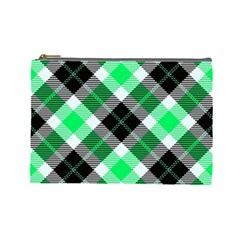Smart Plaid Green Cosmetic Bag (large)  by ImpressiveMoments