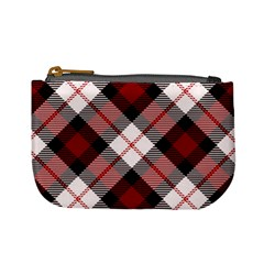Smart Plaid Red Mini Coin Purses by ImpressiveMoments