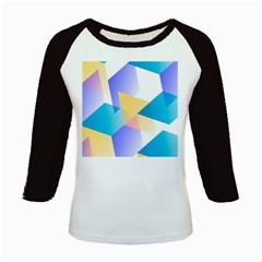 Geometric 03 Blue Kids Baseball Jerseys by MoreColorsinLife
