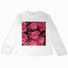 Awesome Flowers Red Kids Long Sleeve T Shirts