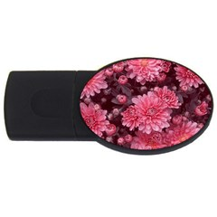 Awesome Flowers Red Usb Flash Drive Oval (4 Gb)  by MoreColorsinLife