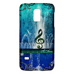 Clef With Water Splash And Floral Elements Galaxy S5 Mini by FantasyWorld7