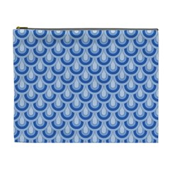 Awesome Retro Pattern Blue Cosmetic Bag (xl) by ImpressiveMoments